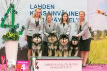 Kennel Peikkovuoren BIS4 BREEDER at Lahti INT 2019