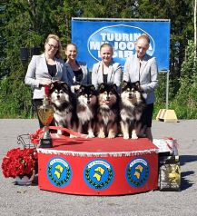 Kennel Peikkovuoren BIS1 BREEDER at Tuuri NAT 2019